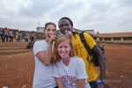 Kelly, Junior, Amanda, taking charge at the Kibera WASH Festival,  July 20
