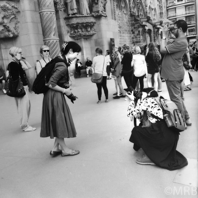 Tourists at Sagrado Familia, Barcelona
